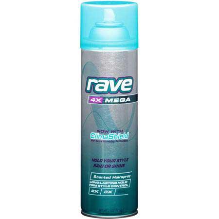 RAVE 4x Mega Scented Aerosol Hairspray | Global Brand Acquisition